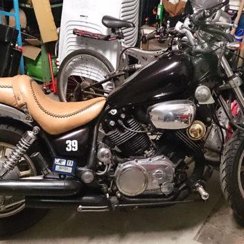 Custom motor bike seats